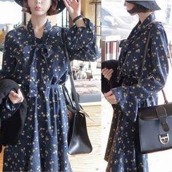 EFO - Floral Corduroy Dress
