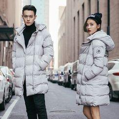 YamYork - Couple Matching Hooded Puffer Coat