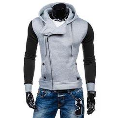 Peibo - Color-Block Hooded Sweatshirt