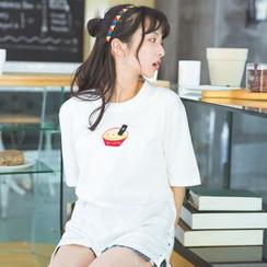 Moricode - Embroidered Short-Sleeve T-Shirt