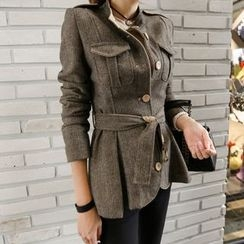 Gl.bY - Buttoned Jacket with Sash