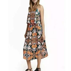 Chicsense - Layered Printed Sundress
