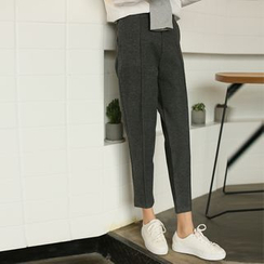 Morever - Plain Cropped Pants
