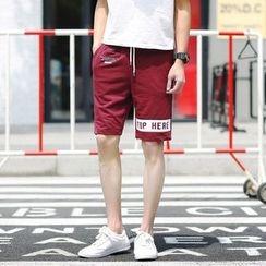 百高 - 印花抽绳运动短裤
