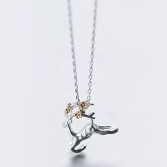 A'ROCH - 925 Sterling Silver Dear Necklace