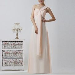 Bridal Workshop - 单肩A字雪纺晚礼服