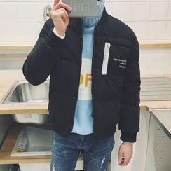 JUN.LEE - Lettering Padded Jacket