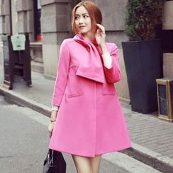 Sherbo - Bow-Accent Single Button Coat