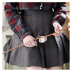 Sechuna - Band-Waist Pintuck Skirt