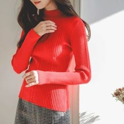 JUSTONE - Slim-Fit Wool Blend Cable-Knit Top