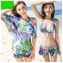 Vicki Vicki - Set: Print Bikini + Beach Cover-Up