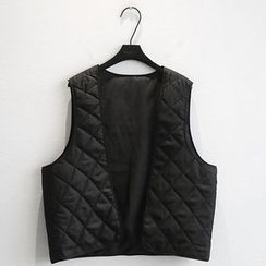 NANING9 - Open-Front Quilted Vest