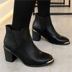 QNIGIRLS - Metal-Detail Ankle Boots