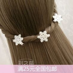 KOSUKE - Snowflake Hair Pin / Hair Tie / Hair Clip