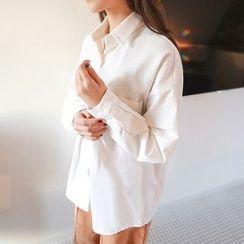 PPGIRL - Pocket-Detail Cotton Shirt