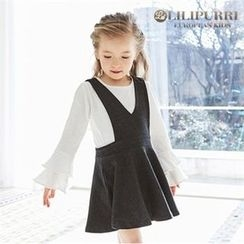 LILIPURRI - Girls Suspender Flare Skirt