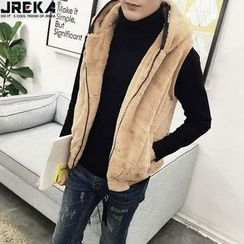 Jacka - Hooded Furry Vest