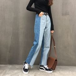 Tiny Times - Cropped Wide Leg Jeans
