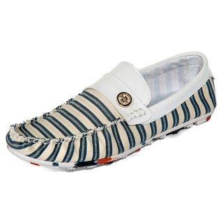 yeswalker - Striped Canvas Loafers
