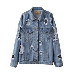 Ainvyi - Distressed Denim Jacket