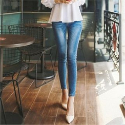 Styleonme - Washed Skinny Jeans