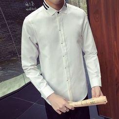 Bloemen - Striped Collar Shirt