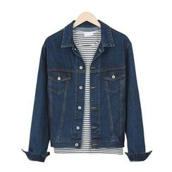 DANGOON - Dual-Pocket Washed Denim Jacket
