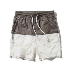 MENO - Drawstring Panel Beach Shorts
