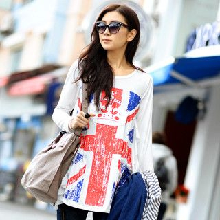 59 Seconds - Union Jack Crown Print Top