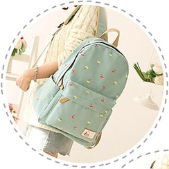Canvas Love - Cherry Print Canvas Backpack