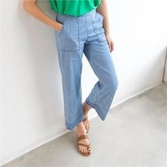 PIPPIN - Band-Waist Wide-Leg Jeans