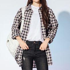 Heynew - Plaid Long Shirt