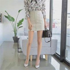 TOM & RABBIT - Zip-Back A-Line Skirt