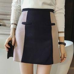 Little V - Colour Block A-Line Skirt
