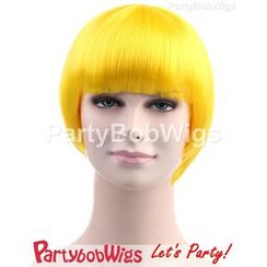 Party Wigs - PartyBobWigs - Party Short Bob Wigs - Yellow