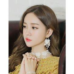 soo n soo - Faux-Pearl Embellished Statement Earrings