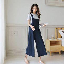 Hello sweety - Wide-Leg Dual-Pocket Jumpsuit