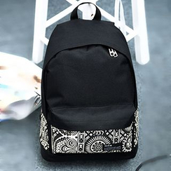 Youme - Print Panel Canvas Backpack