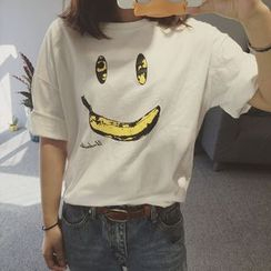 MATO - Smiley Face Short-Sleeve T-shirt