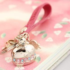 MILESI - Couple Bear Rhinestone Key Chain