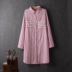 Blue Rose - Striped Long Shirt
