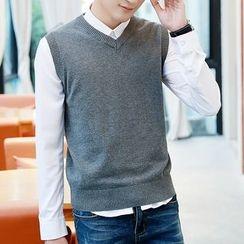 Bay Go Mall - V-Neck Knit Vest