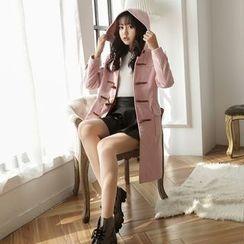Angel Shine - Hooded Long Duffle Coat