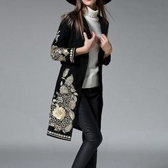 Wisteria - Wool Blend Embroidered Coat