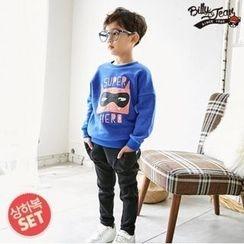 BILLY JEAN - Kids Set: Brushed Fleece Lined Sweatshirt + Harem Pants