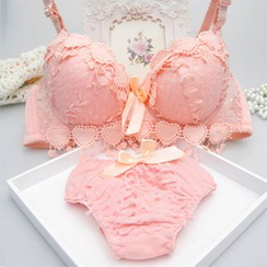 Heart2Heart - Set: Lace Push Up Bra + Panties