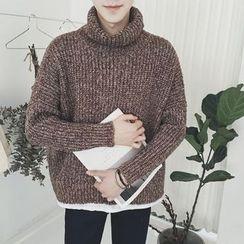 JUN.LEE - High Neck Thick Sweater