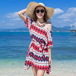 Sugar Town - Print Beach Cover-Up Dress