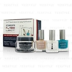 DERMELECT - Nail Recovery System Set: Nail and Cuticle Treatment 28.4g + Base Coat 12ml + Ridge Filler 12ml + Top Coat 12ml