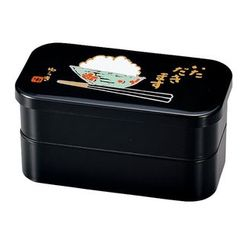 Hakoya - Hakoya Mens Rectangular 2 Layers Lunch Box L Itadakimasu
